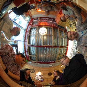 And @BogotaCoffeeCo is filling up. At @stationX #theta360