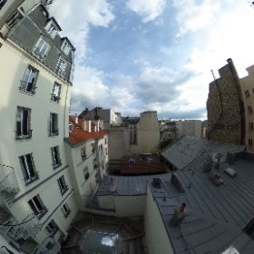 View from my Paris hotel window. #theta360