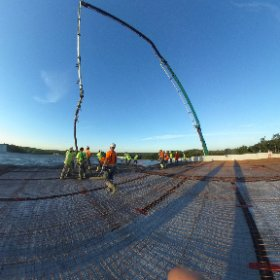 Amazing morning pouring concrete! You could say picture perfect! #construction #WeDontCoast  #theta360