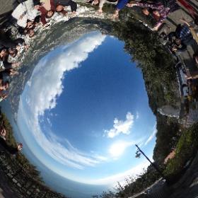 阿馬菲海岸照過來 #theta360