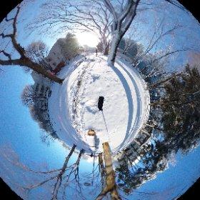 雪の記録 #theta360