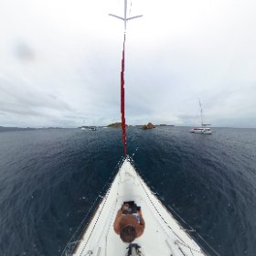 On the hook, mooring ball, preparing to dive the Indians in the BVI's