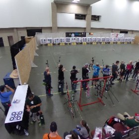 Shooting at #NFAA Indoor Nationals. Today is practice and the ProAm. 164 target butts. #archery  #theta360