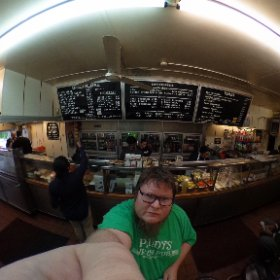 Grabbed a cheesesteak from Jim's in West Philly! #theta360