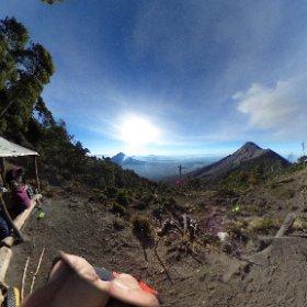 アカテナンゴ火山、ベースキャンプ #theta360