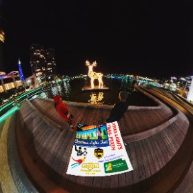 Elizabeth quay 360 image 2019 Xmas Light Trails in Perth CBD FREE every night till December - virtual tour + official map, video, program in https://lnkd.in/gX_aiXu #XmasLightTrailsPerth   #ChristmasLightTrailsPerth   #Firefire3d #theta360