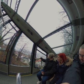 Riding the #Fløibanen to the top of Mt. Fløyen! #norway #bergen #theta360
