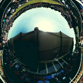 Toffe 360foto van centercourt RicohOpen #theta360