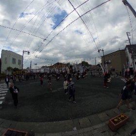 江刺甚句まつり 2018/5/4 14:58頃 鹿踊り 移動中(三音社付近) #theta360