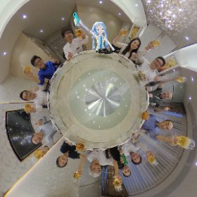 中華テーブルにはミクシータ必須😆かむぺーーーっ🍻✨  #深圳での仕事 #miku360  #theta360