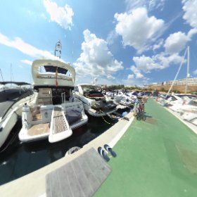360 PHOTO: Pier 4 at Puerto Portals, Majorca, Spain, Tuesday. August 21, 2018 - taken during 52 Super Series Sailing Week. #theta360 #theta360uk