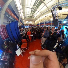 If Trump comes into the spin room here's a 360 view of the press scrum he'll be facing: