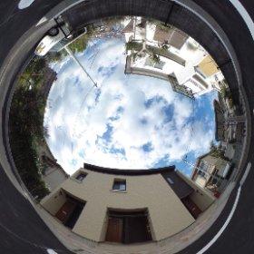 松山市の賃貸アパート、ジュネス華の敷地北側(JR予讃線の松山駅に徒歩10分)