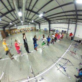 Archery 9am line #IndoorNationals #USAArchery Hamilton, Ohio #360photo  #theta360
