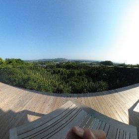 トスラブ館山ルアーナの部屋からの景色 #theta360