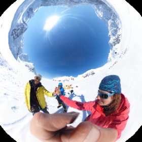 On this 360degree photo we are done with the Cassin ridge. Chilling at 7900ft. Happy to be together in a climbing partnership. #theta360 #theta360uk