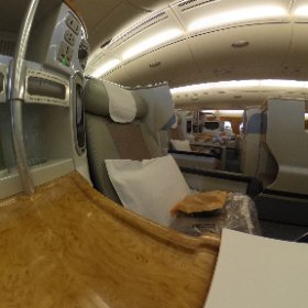 Emirates A380 Business Class - Aisle
