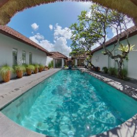 The pool at Uma Sapna, Seminyak, Bali.  #umasapna #umasapnavillaseminyak #bali #indonesia #theta360 #theta360uk