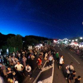 昨夜の知覧ねぷた祭り #theta360
