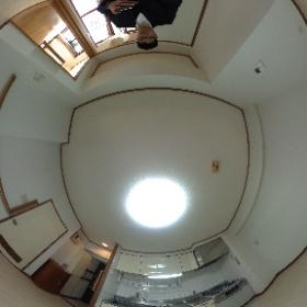 世田谷区等々力にあります「ライオンズマンション等々力第5」の2DKマンションのダイニングキッチンパノラマ写真です。物件についてはhttp://www.futabafudousan.com #theta360