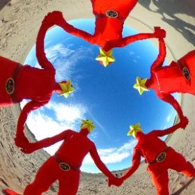 砂丘で五輝星GET!!! #theta360