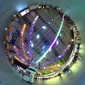 さいたま新都心駅のイルミネーション。2014 #theta360