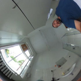 The infamous Berlin Bathroom Biker Babe. In 360 degrees. #theta360