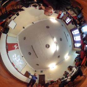 "Michael John Gorman makes a presentation during the ""Senses"" seminar on the Island of San Servolo, Venice."