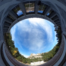 View of Mt. Rushmore (SD) from visitor center on Saturday, October 6, 2018. #DuBoisEE1  #theta360
