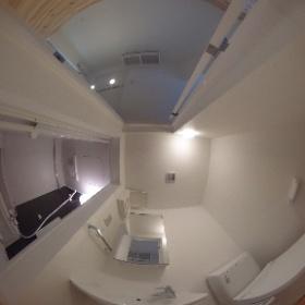 ブロードスカイ西六郷102洗面トイレ #theta360