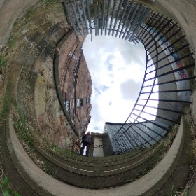 Morningside Station down the steps #theta360