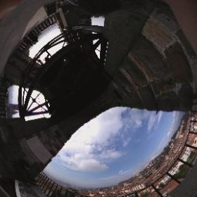 Auf dem Stadtturm in Bergamo