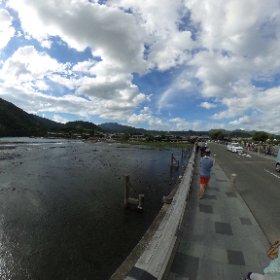 京都嵐山で渡月橋 渡ってきました!桂川渡る