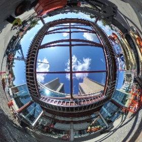 Construction of the new front entry and artium space at the Erie County Medical Center in Buffalo, NY #theta360