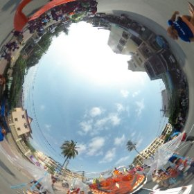 I Believe we can Fly! project goes with Painting Smiles School, in Sihanoukville Carnival - Cambodia. #theta360