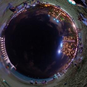 夜の浜辺 #miku360 #theta360