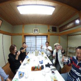 千石家、日本酒十四代の会。 #theta360