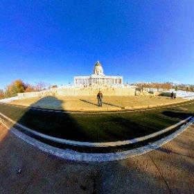 A #360 selfie in front of the Utah State Capitol. #imthemobileguru #theta360