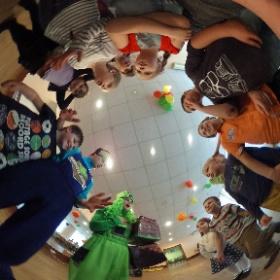 Minecraft style birthday party :) #theta360