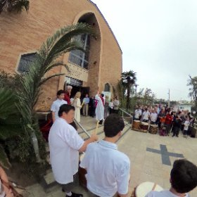#AmericanMartyrsChurch #ManhattanBeach #PalmSunday #Lent #theta360