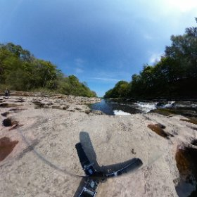 360 shot of Aysgarth Falls in the Yorkshire Dales National Park UK #waterfalls #sunshine #river #theta360 #theta360uk