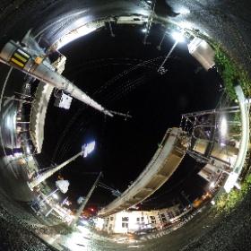 大塚交差点の歩道橋撤去 #rain3d #theta360