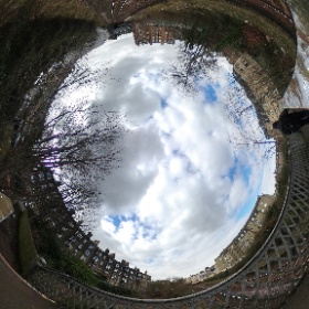 The 360º view to Morningside Station from the Balcarres St Bridge to Maxwell St. #theta360