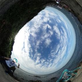 猿島にて。雲が綺麗 #miku360 #theta360