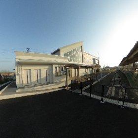 旧野蒜駅ホーム #theta360