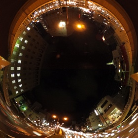 THETAで撮影した夜の写真25枚を比較明コンポジット合成で擬似的なバルブ撮影写真にしてみた@松山市湊町 THETAgrapher No.233 #THETAgrapher  #theta360