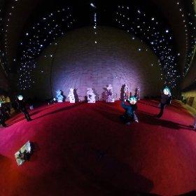 フェスティバルホールの上層階にて。等身大パネル集結!#miku360
