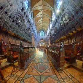 Chester Cathedral, trying to get a shot with nobody in it. HDR mode 360 pic (click to see properly)