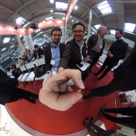 Professor Schild and I get set for the serious gaming conference #SGC17 #theta360