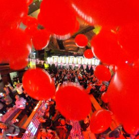 99 Red Balloons bring the evening too an end at Oktoberfest Norwich. #theta360